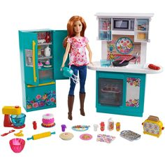 Ree has her own Barbie now! Barbie Pioneer Woman Ree Drummond Kitchen Playset with Cooking Chef Doll Barbie Doll Set, Doll Clothes Barbie, Mattel Barbie, Barbie Stuff, Barbies Dolls, Doll Toys, Barbies Pics, Ree Drummond, Accessoires Barbie