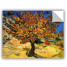 Mulberry Tree by Vincent Van Gogh Art Appeelz Removable Wall Mural