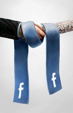 """""""Et je vous déclare unis par les liens... de FaceBook ! / By Sebastian Pytka."""