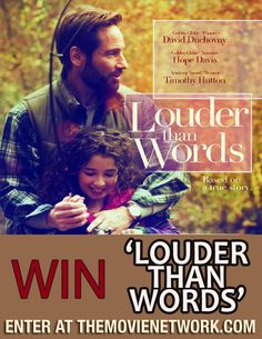 """Win """"Louder Than Words"""" #DVD from The Movie Network #Giveaway #PinItToWinIt #David Duchovny"""