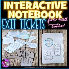 Student self assessment is a great way to check for understanding. Students love Interactive Notebooks and this editable resource is a fun and unique set of printable foldable exit tickets that enable students to reflect on their learning in a fun and modern way! They are great for early finishers a... Student Self Assessment, Exit Tickets, Interactive Notebooks, Teacher Resources, Learning, Studying, Student Self Evaluation, Education, Teaching