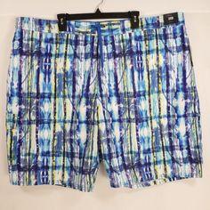 b122f5add2fb9 Roundtree Yorke Swim Trunks Sz 3XB Shorts Suit Big Man Swimwear Blue Palm  Trees #RoundtreeYorke