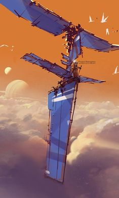 concept art, concept design, v Spaceship Concept, Concept Ships, Science Fiction Kunst, Arte Tribal, Bild Tattoos, Bd Comics, Cg Art, Matte Painting, Environment Concept Art
