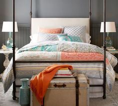 Claire Scarf Duvet Cover & Sham | Pottery Barn