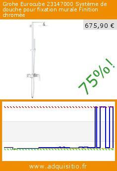 Grohe Eurocube 23147000 Système de douche pour fixation murale Finition chromée (Outils et accessoires). Réduction de 75%! Prix actuel 675,90 €, l'ancien prix était de 2.729,78 €. http://www.adquisitio.fr/grohe/eurocube-23147000-syst%C3%A8me