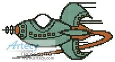 Rocket Counted Cross Stitch Pattern http://www.artecyshop.com/index.php?main_page=product_info&cPath=19_22&products_id=1062