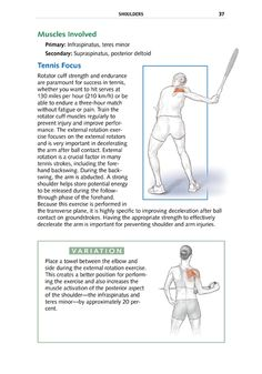 Tennis Anatomy brings your game to life with over 194 full-color anatomical illustrations depicting strokes and movements, strengthening exercises, and injury-prevention exercises. The 72 step-by-step exercises are arranged anatomically for shoulders, arms and wrists, chest, back, core, and legs, with explanations of how each affects performance.
