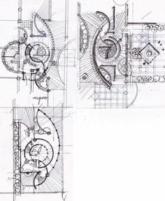 Architecture Concept Diagram, Landscape Architecture Drawing, Landscape Design Plans, Landscape Drawings, Architecture Plan, Urban Landscape, Paper Architecture, Plaza Design, Parking Design