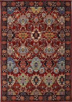 Karastan - Karastan Bravado Mahir Red Area Rug #112724