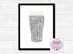 Pint of Carlow Pubs Wall Art Print With Some of the Best Known Pubs from around the County by JumbleinkArt on Etsy Irish Quotes, Fathers Day Presents, Irish Art, Frame Sizes, Frame Shop, Wall Art Prints, Digital Prints, Ireland, Etsy