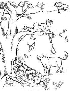 Ausmalbild M 228 Rchen Peter Und Der Wolf Zum Ausmalen