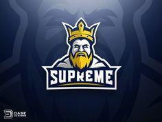 Supreme King Mascot Logo by Derrick Stratton