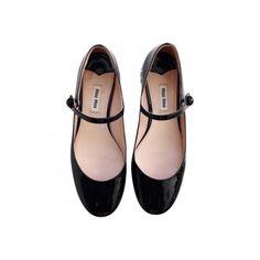 Ballerinas Miu Miu (1,480 PEN) ❤ liked on Polyvore featuring shoes, flats, ballerina shoes, ballet shoes, ballerina flats, miu miu and ballet flats