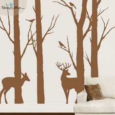 Enjoy this serene forest scene in your home for a calm, relaxed, and peaceful feel. These beautiful silhouettes will look great in bedrooms, studies, and large spaces with open ceilings.
