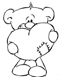 valentine Bear coloring page | Coloring Pages