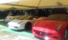 La nostra Nuovissima Ferrari California T, insieme alla sensazionale Lamborghini Gallardo e ad un Fantastico Maggiolino!!!