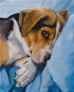 PAINT MY DOG - Alex original fine art by Clair Hartmann