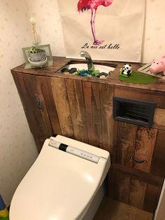 ダイソー大好き❤ 流行りのタンクレストイレに憧れて 100均グッズで作ってみました♪