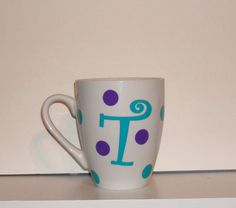 personalized white coffee MUG wedding gift teacher  $10.00
