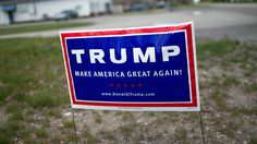A Maine woman is saying that she would rather go to jail than take down her signs in support of President Trump.