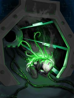 Danny Phantom- this is probably the coolest representation of Danny Phantom ever..