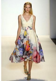 floral watercolor dress - Google Search