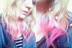 pink ombre #hair