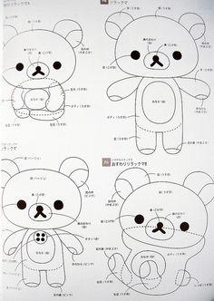 isbn 9784391138047 rilakkuma cute felt mascots japanese craft book by feltcafe, via Flickr