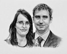 Kresba portrétu dvojice