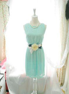 Party Tea Garden mint green Dress  Elegance Gown by miadressshop, $28.50