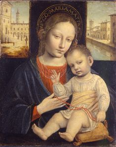 The Virgin and Child / La Virgen y el Niño // 1500-1510 // Ambrogio Bergognone // Museo Poldi Pezzoli // 'Virgo Maria Mater Dei'