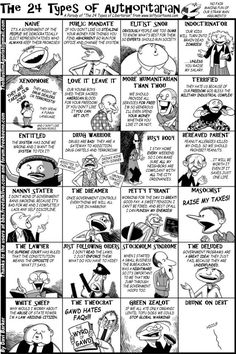The 24 Types of Authoritarian