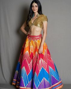 Ananya Pandey cutest bollywood new comer Indian Actress from student of the year 2 insane beauty face unseen latest hot sexy images of her . Lehenga Blouse, Lehenga Choli, Indian Lehenga, Gota Patti Lehenga, Bollywood Celebrities, Bridal Lehenga, Beautiful Indian Actress, Beautiful Ladies, Indian Girls
