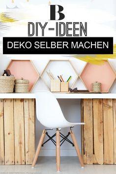 Deko selber machen: 100 schöne Ideen zum Basteln. Ihr näht und bastelt gerne? Dann werdet ihr diese Kreativideen zum Selbermachen lieben. DIY-Anleitungen von Ostern bis Weihnachten und von Frühling bis Winter. #diy #deko #basteln #wohnen Pen And Paper, Tricks, Winter Diy, Chair, Furniture, Home Decor, Blog, Diy Home Decor, Creative Ideas