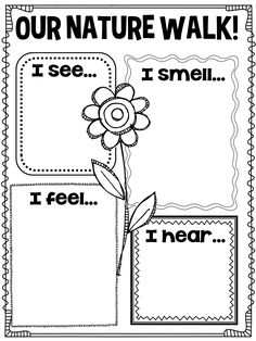 spring nature walk printable! This is so great! Even non-spellers can draw pictures!