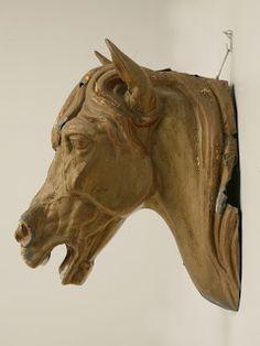 antique zinc horse head...I want!!!!