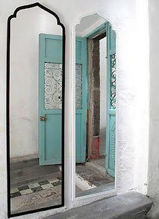 mirror Arch Mirror, Diy Mirror, Wall Mirrors, Mirror Floor, Through The Looking Glass, Moorish, Mirror With Lights, Moroccan Style, My Dream Home