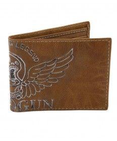 Top Gun® Keep Em' Flying Trifold Leather Wallet