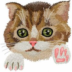 Kitten free embroidery design - Animals free machine embroidery design - Machine embroidery forum