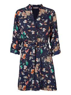 FLOWERED MINI DRESS, Black Iris