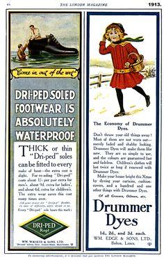 1913. Lancashire adverts
