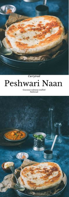 Make healthy version with tapioca flour and chickpea flour and coconut sultana mixture inside - Peshwari Naan Bread Snacks Recipe, Recipes With Naan Bread, Snack Recipes, Cooking Recipes, Vegan Indian Recipes, Vegetarian Recipes, Peshwari Naan Recipe, Vegan Naan, Kitchens