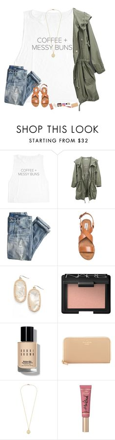 """""""my last set only got 8 likes... """" by hopemarlee ❤ liked on Polyvore featuring J.Crew, Steve Madden, Kendra Scott, NARS Cosmetics, Bobbi Brown Cosmetics, Kate Spade, Too Faced Cosmetics and Casetify"""