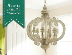 Do you love all the light fixtures in your home? If not, do you wish you knew How to Install a Chandelier, so you don't have to hire an electrician to do it? Today your wishes will be answered!