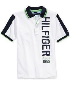 Tommy Hilfiger Boys' James Polo Shirt Polo Shirt Outfit Women's, Polo Rugby Shirt, Polo Shirt Women, Polo T Shirts, Boys Shirts, Polo Design, New T Shirt Design, Shirt Print Design, Shirt Designs