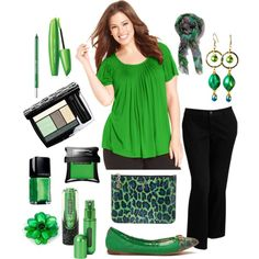 Plus Size for Work in Green and Black