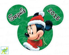 Minnie Mouse Disney Christmas Printable Iron On by TheWallabyWay