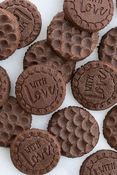 This simple and rich chocolate stamped sugar cookie recipe makes an easy and fun dessert using our decorative cookie stamps. Stamped Sugar Cookie Recipe, Stamp Cookies Recipe, Sugar Cookies Recipe, Cookie Stamp, Cookie Desserts, Cookie Bars, Fun Desserts, Cookie Recipes, Dessert Recipes