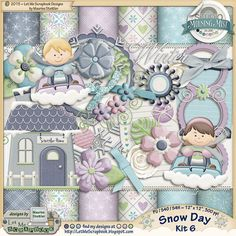 "Digital Scrapbooking Kit; part of theStudio's ""Morning Mist"" collection"