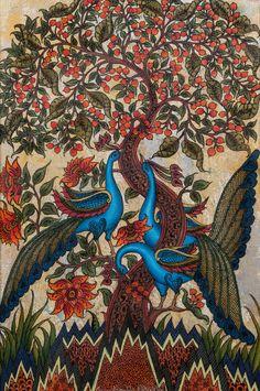 Tree of Life, Price: Medium: Acrylic on canvas,Size: Tree Of Life Painting, Tree Of Life Art, Tree Art, Kerala Mural Painting, Madhubani Painting, Pichwai Paintings, Indian Art Paintings, Wicca, Peacock Wall Art
